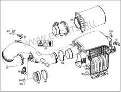 Корпус воздушного фильтра. Mercedes-Benz E-Class, W212 Двигатель M274