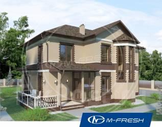 M-fresh Comfort Progressive-зеркальный (Готовый проект дома с эркером). 200-300 кв. м., 2 этажа, 5 комнат, бетон