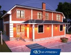 M-fresh Duplex (Проект дома на две семьи. Дуплекс! ). 200-300 кв. м., 2 этажа, 8 комнат, дерево
