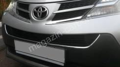 Молдинг решетки радиатора. Toyota RAV4, XA40, QEA42, ZSA42, ZSA44, ASA42, ALA49L, ASA44L, ALA49, ASA44, ZSA44L, ZSA42L Двигатели: 2ARFE, 3ZRFE, 2ADFTV