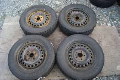 Комплект зимней японской резины на дисках 215/65/15 Pirelli (027). 6.0x15 5x114.30