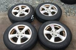 Комплект японской летней резины на дисках 195/65/15 Bridgestone (042). 6.5x15 5x114.30 ET52