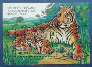 1992 Россия. Охрана природы. Тигр. Блок Чистый