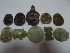Антиквариат Фигурки камень нефрит жадеит сердолик Китай. Оригинал