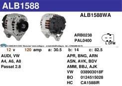 Генератор. Volkswagen Passat, 3B3, 3B5, 3B2, 3B6 Двигатели: ATQ, AJM, BGH, AEG, APU, ACK, BDN, ADR, ALZ, BHW, BWH, AZM, ANA, AUG, BAU, AHA, ARM, AWT...