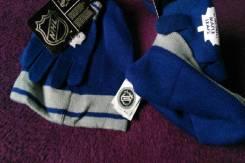 Хоккейная шапка+перчатки Toronto NHL