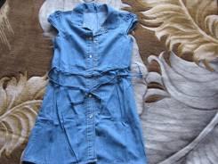 Платья джинсовые. Рост: 128-134, 134-140 см