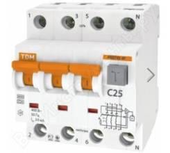 АВДТ 63 4P C32 30мА - Авт. выключатель дифференциального тока TDM, SQ0202-0019