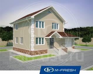 M-fresh Elegance (Во какой! Готовый проект дома с гаражом! ). 100-200 кв. м., 2 этажа, 4 комнаты, комбинированный