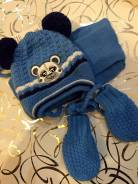 Шапка, шарф и варежки. Рост: 60-68, 68-74, 74-80 см