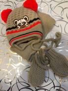 Шапка, шарф и варежки. Рост: 62-68, 68-74, 74-80 см
