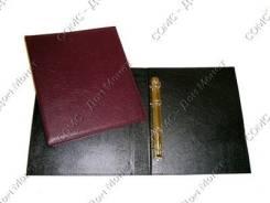 Альбом вертикальный 230х270мм, (классик) кожзаменитель, без листов