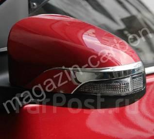 Накладка на зеркало. Toyota Vitz Toyota Yaris, NSP130, KSP130, NCP131 Двигатели: 1NRFE, 1KRFE, 1NZFE