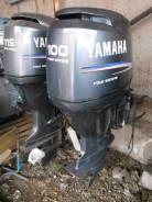 Yamaha. 100,00л.с., 4х тактный, бензин, нога L (508 мм), Год: 2005 год. Под заказ