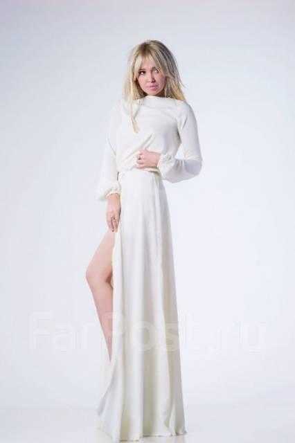 Платье вечернее жемчужное