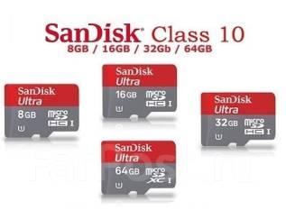 MicroSD. 8 Гб, интерфейс Micro SD