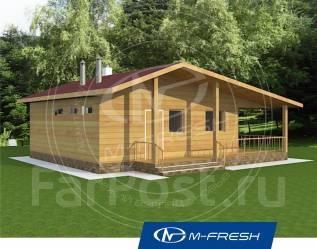 M-fresh Costa Rica (Проект дома с накрытой террасой). до 100 кв. м., 1 этаж, 1 комната, бетон