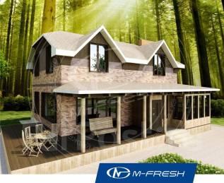 M-fresh My Villa (Покупайте готовый проект дома с террасой! ). 200-300 кв. м., 2 этажа, 5 комнат, бетон
