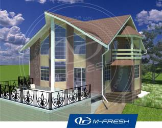 M-fresh Аmsterdam! (Покупайте этот проект каркасного дома! ). 100-200 кв. м., 1 этаж, 5 комнат, каркас