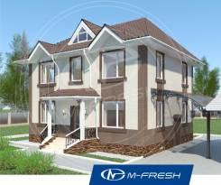 M-fresh Paradise-зеркальный (Проект дома с 4 спальнями! ). 100-200 кв. м., 2 этажа, 5 комнат, бетон