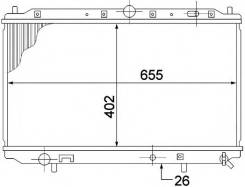 Радиатор двигателя VOLVO S40 V40 96-04 1.6L 1.8L 2.0L оригинал Volvo 8602065