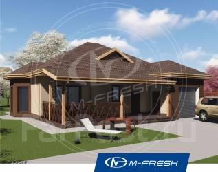 M-fresh Freee-e-eeedom! (Проект 1-этажного дома со встроенным гаражом). 100-200 кв. м., 1 этаж, 4 комнаты, бетон