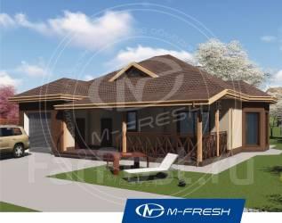 M-fresh Freee-e-eeedom! -зеркальный (Одноэтажный дом с террасой). 100-200 кв. м., 1 этаж, 4 комнаты, бетон