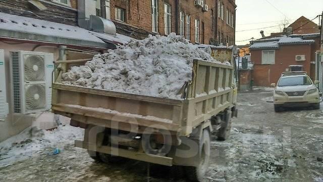 Вывоз снега, уборка снега.