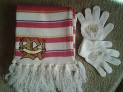 Шапка, шарф и перчатки. Рост: 110-116 см