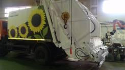 Presko-17 (KBR-P17K) мусоровоз с портальным захватом в Москве