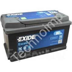 Аккумуляторная батарея Exide Excell EB802. 80А.ч., Обратная (левое), производство США. Под заказ