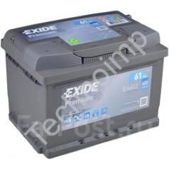 Аккумуляторная батарея Exide Premium EA612. 61А.ч., Обратная (левое), производство США. Под заказ