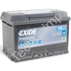 Аккумуляторная батарея Exide Premium EA770. 77А.ч., Обратная (левое), производство США