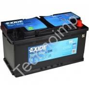 Аккумуляторная батарея Exide Start-Stop AGM EK950. 95 А.ч., левое крепление, производство США