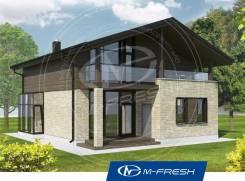 M-fresh John style-зеркальный (Проект дома с мансардой). 100-200 кв. м., 2 этажа, 4 комнаты, бетон
