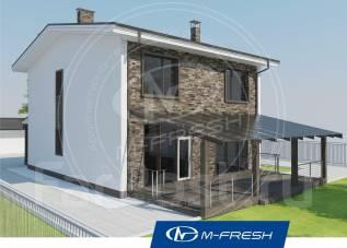 M-fresh Born free (Проект дома с солнечной террасой! Посмотрите! ). 200-300 кв. м., 2 этажа, 5 комнат, бетон