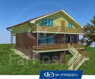 M-fresh Goооod night! (Проект дома для свежей жизни на природе! ). 100-200 кв. м., 1 этаж, 4 комнаты, комбинированный