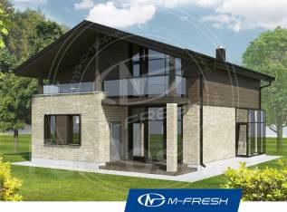 M-fresh John style (Проект дома с прозрачным эркером). 100-200 кв. м., 2 этажа, 4 комнаты, бетон