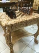 Шахматный стол с фигурами! Ручная работа!