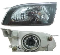 Фара левая Toyota Corolla 98-00 черный хрусталь