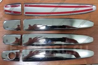 Накладка на ручки дверей. Toyota Land Cruiser Prado, TRJ125, RZJ120, KDJ125, GRJ120, TRJ120W, KZJ120, KDJ121, RZJ125, VZJ120, RZJ120W, KDJ120W, KDJ121...