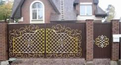 Художественное оформление фасадов, ворот, ограждений, территории