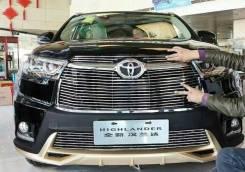Молдинг решетки радиатора. Toyota Highlander, ASU50, ASU50L, GSU50, GSU55, GSU55L Двигатели: 1ARFE, 2GRFKS, 2GRFXS