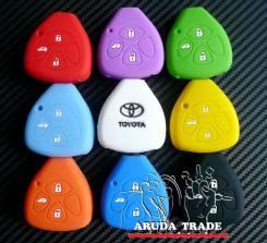 Силиконовый чехол на смарт ключ Toyota 3 кнопки (треугольник)