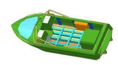 Корпус водометного катера Сапсан 540 под стац. и ПМ. длина 5,40м., двигатель стационарный, 150,00л.с., бензин. Под заказ