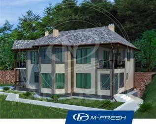 M-fresh Art-Galaxy (Проект 2-этажного дома со встроенным гаражом! ). 200-300 кв. м., 2 этажа, 5 комнат, бетон