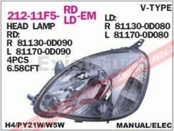 Продам передние фары на Toyota Vitz/Echo