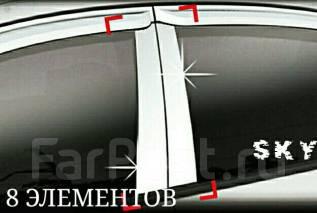 Накладки стойки дверей (Хром) на Toyota Land Cruiser 100