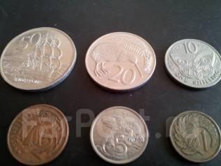 6 монет Новой Зеландии без повторов! В лоте есть 1 шиллинг 1967 г.!