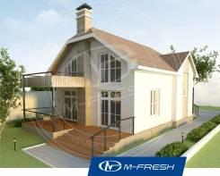 M-fresh Nature (Проект дома с террасой! Посмотрите сейчас! ). 100-200 кв. м., 1 этаж, 3 комнаты, комбинированный